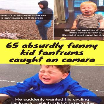 65 absurdly funny kid tantrums caught on camera One of the most challenging parts of parenting is n