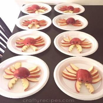 Apple Crab Snacks for Kids - Crafty Recipes - Apple Crab Snacks for Kids - Crafty Recipes -