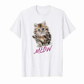 Cat Shirt Meow Kitty Funny Cats Mom And Cat Dad Gift T-Shirt
