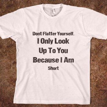 Don't Flatter Yourself I'm Short Insult  Shirts By Sarah  Skreened T-s - Funny Shirt Sayings - Idea