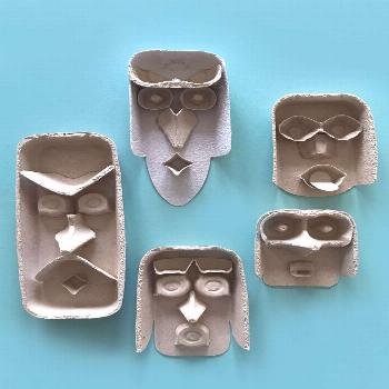Egg carton heads!  2019  These are just the coolest funny faces made just from egg cartons. Check o