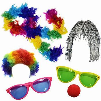 Funny Party Hats Clown Accessory Kit Party Favors Dress Up -