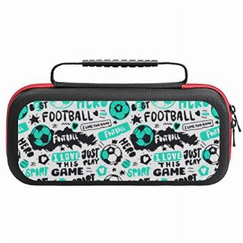 Funny Soccer Ball Carrying Case for Switch Game Console and