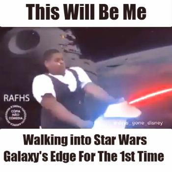 Galaxy's Edge - Disneyland ? ?Yup . . . just a little excited!? ⁣