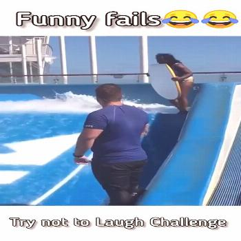 Girl fail on waterfall - Best fail of the 2020 - Try not to laugh - FunComedyFc