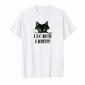 I Do What I Want Funny Black Kitty Cat Lover T Shirt Gift