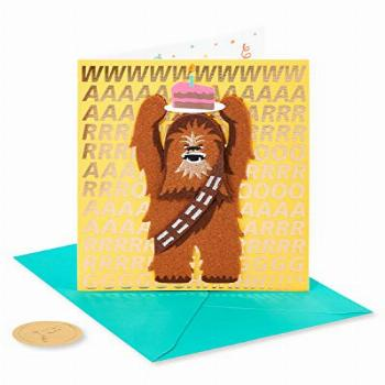Papyrus Funny Star Wars Birthday Card (Chewbacca Holding
