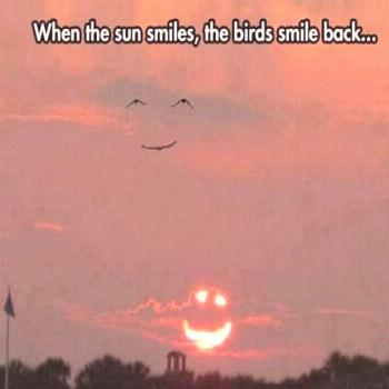 the world smiles with us