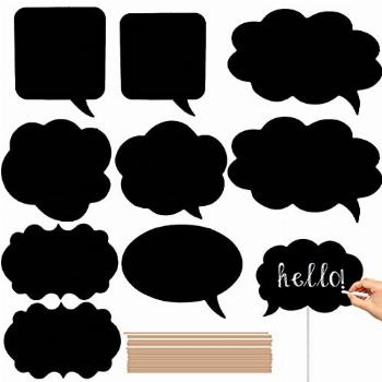 Writable Black Card Board Photo Booth Props - 20pcs