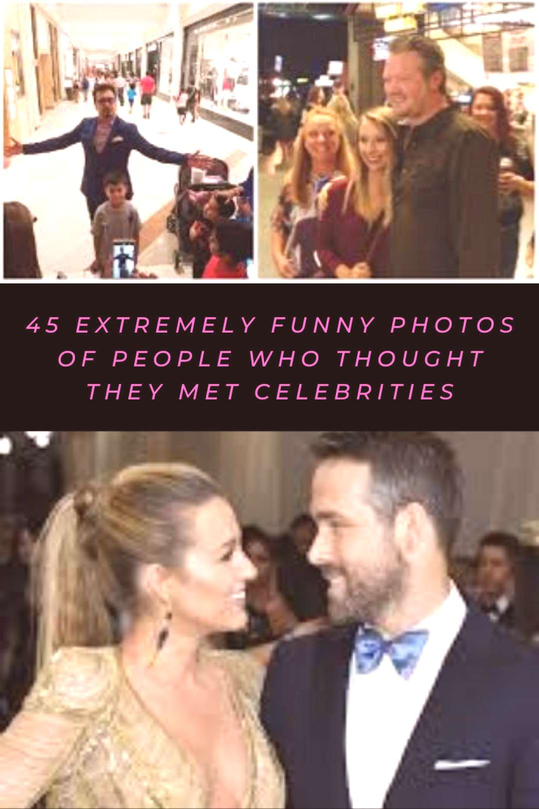 45 extremely funny photos of people who thought they met celebrities