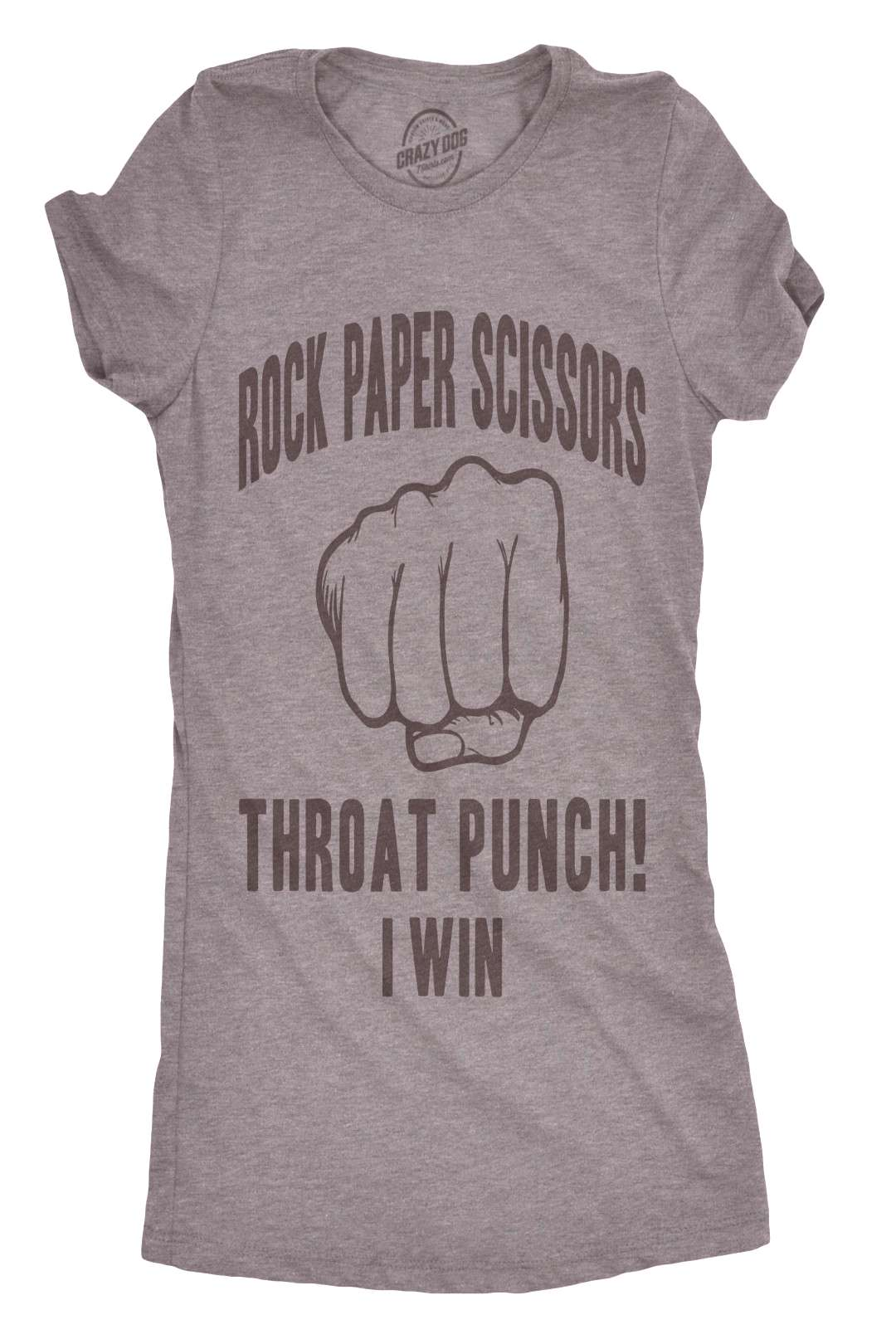 Free 2-day shipping. Buy Womens Rock Paper Scissors Throat Punch Tshirt Funny Sarcastic Mocking Tee