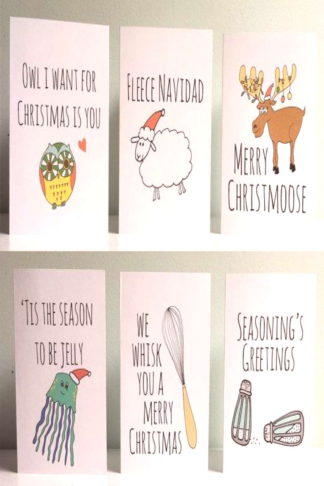 Funny Christmas cards, Christmas games, set of 6, humorous, funny card ... Funny Christmas cards, C