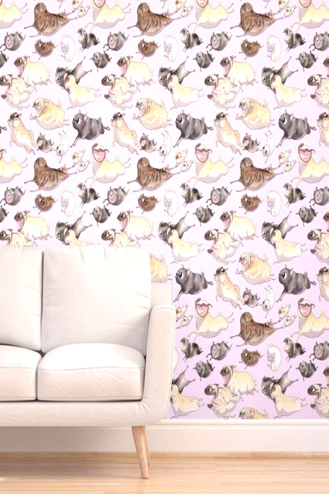 Lavender Pugs Wallpaper - Pugs On The Move by inkpug - Funny Pug Pattern  Toy Breed Group Rescue Pu