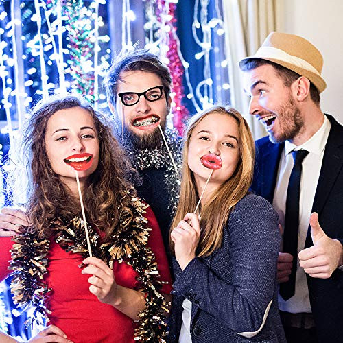Party Photo Booth Props, Funny Mouth Lips Photo Booth Prop,
