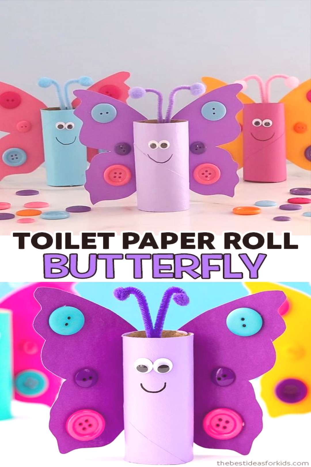 TOILET PAPER ROLL BUTTERFLY TOILET PAPER ROLL BUTTERFLY ? - such a cute butterfly craft for kids